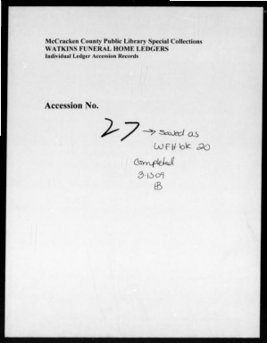 Watkins Funeral Home Records Book 20