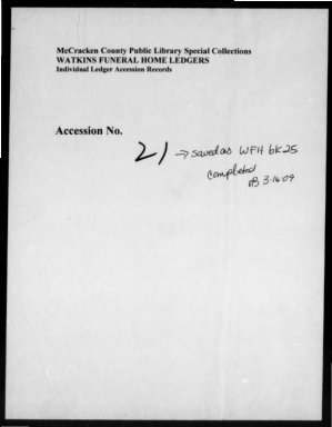 Watkins Funeral Home Records Book 25