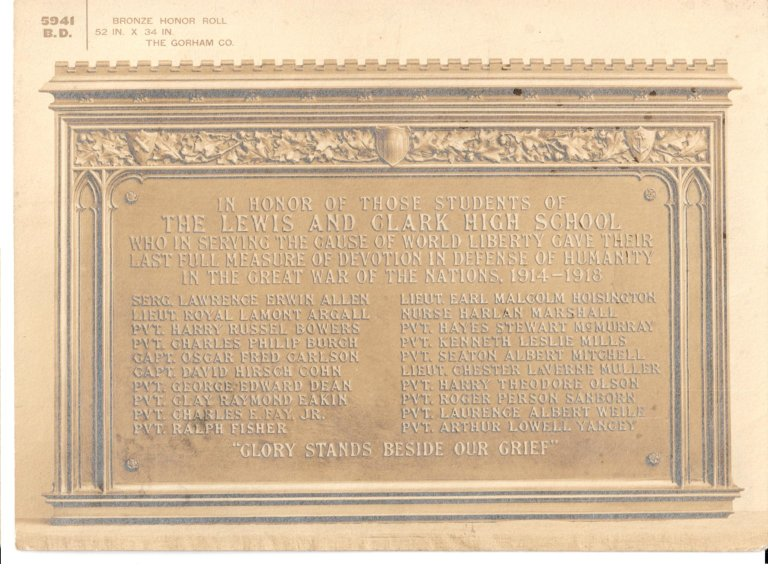 WWII Bronze Honor Roll