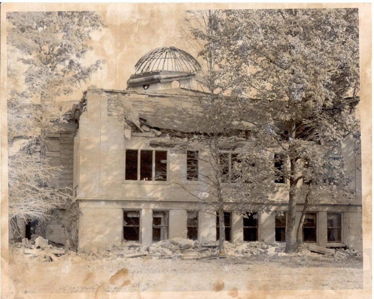 Carnegie Library Fire Damage
