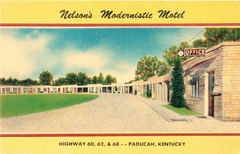 Nelsons's Modernistic Motel, Highway 60.62, &68 - - Paducah, Kentucky
