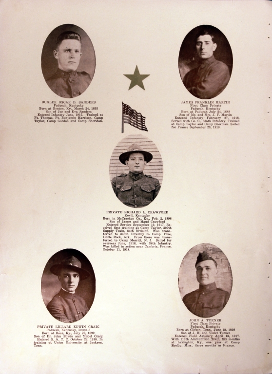 WWI Honor Roll Page 167