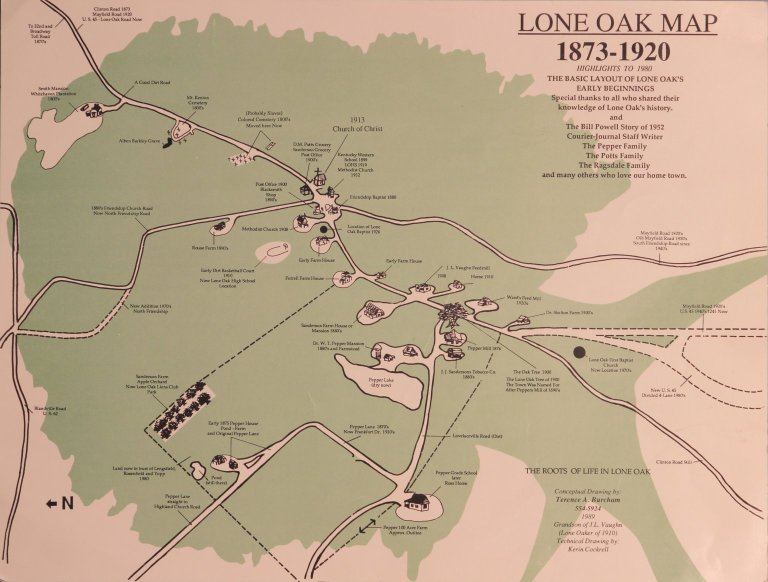 Map of Lone Oak