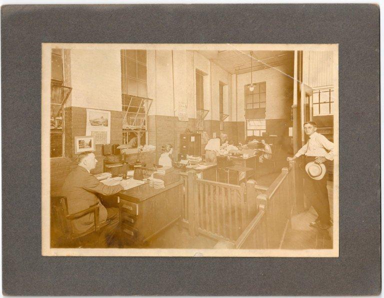 At Desk George Steinhauer in 1921